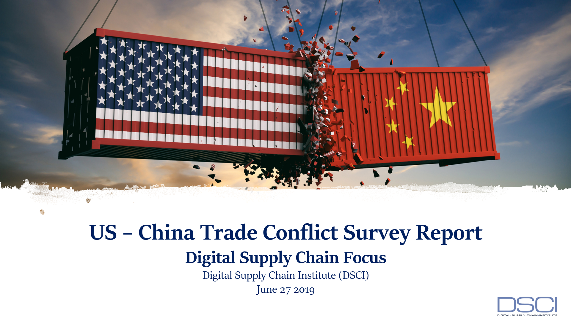 "NEW REPORT On ""Impact of the USA-China Trade Conflict On Supply Chains"""